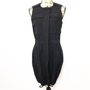 CUE Australia Black Utility Skater Dress